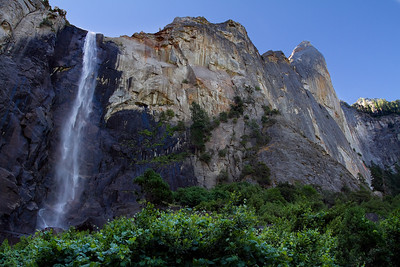 August 14.  Bridal Veil Falls.  I thought about Yosemite all day today while I was working and getting ready for games night.  The beauty is unforgettable.  This was taken about 10:30 - and the sun was just about to crest over the ridge.
